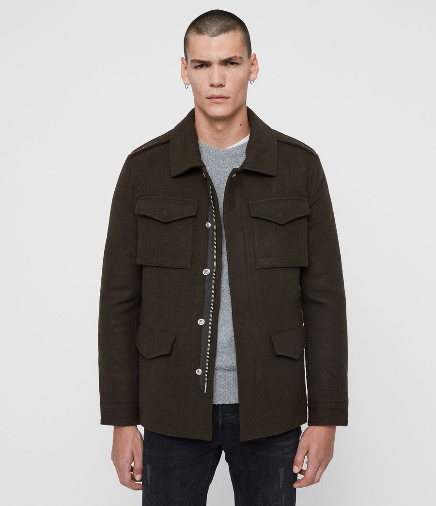 Mens Kadleston Coat (cocoa_brown) - Image 1