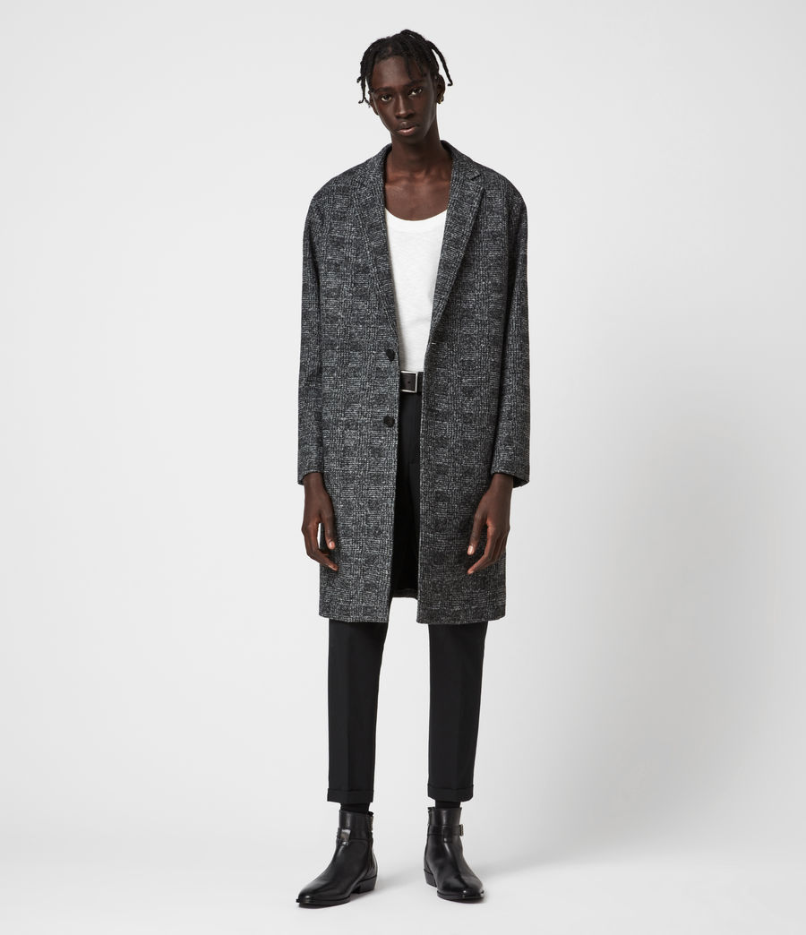 Mens Remmington Wool Blend Coat (black) - Image 1