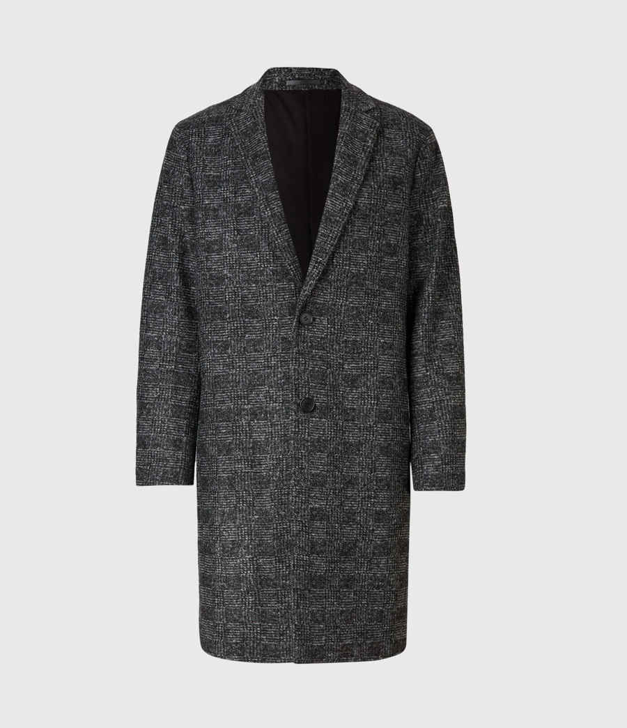 Mens Remmington Wool Blend Coat (black) - Image 2