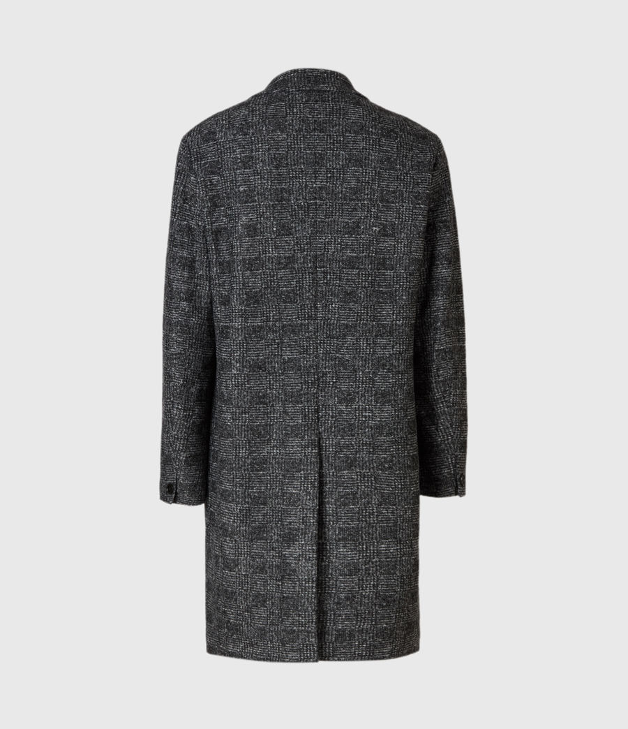 Mens Remmington Wool Blend Coat (black) - Image 3