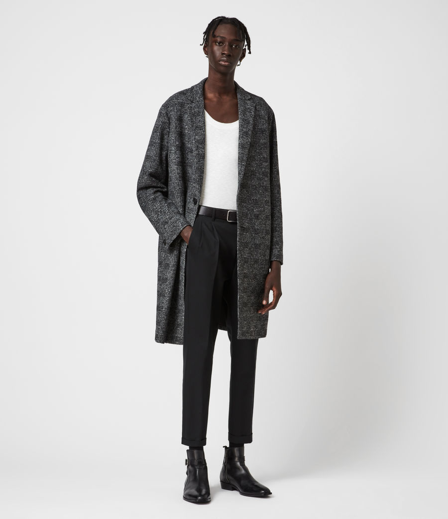 Mens Remmington Wool Blend Coat (black) - Image 4