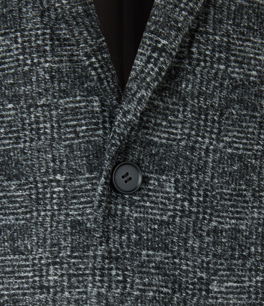 Mens Remmington Wool Blend Coat (black) - Image 6