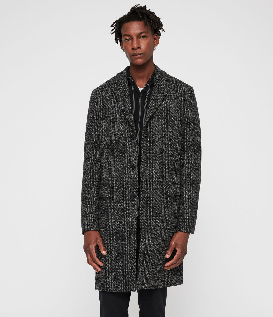 Mens Dowell Coat (black_charcoal) - Image 1