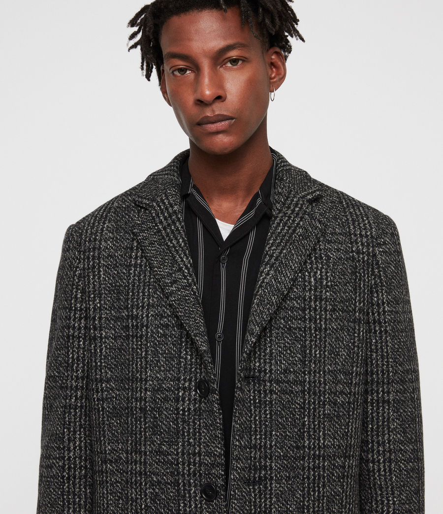 Mens Dowell Coat (black_charcoal) - Image 2