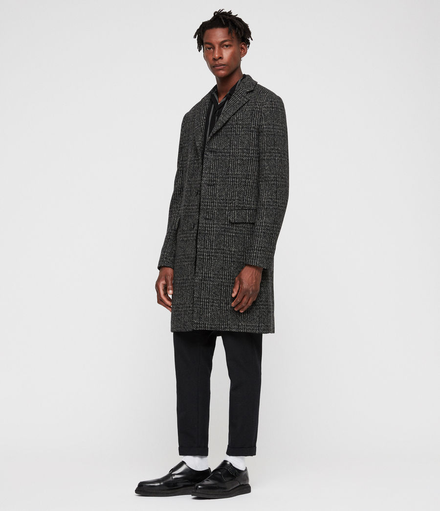 Mens Dowell Coat (black_charcoal) - Image 3