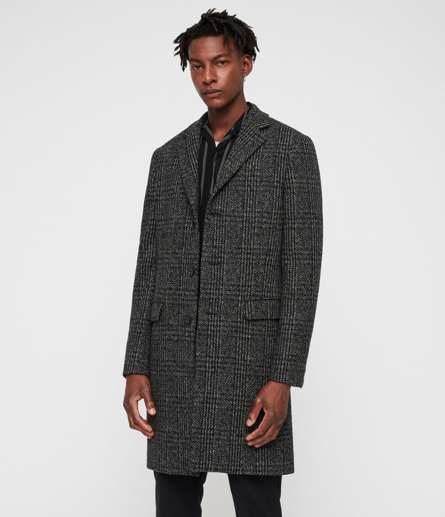 Mens Dowell Coat (black_charcoal) - Image 4