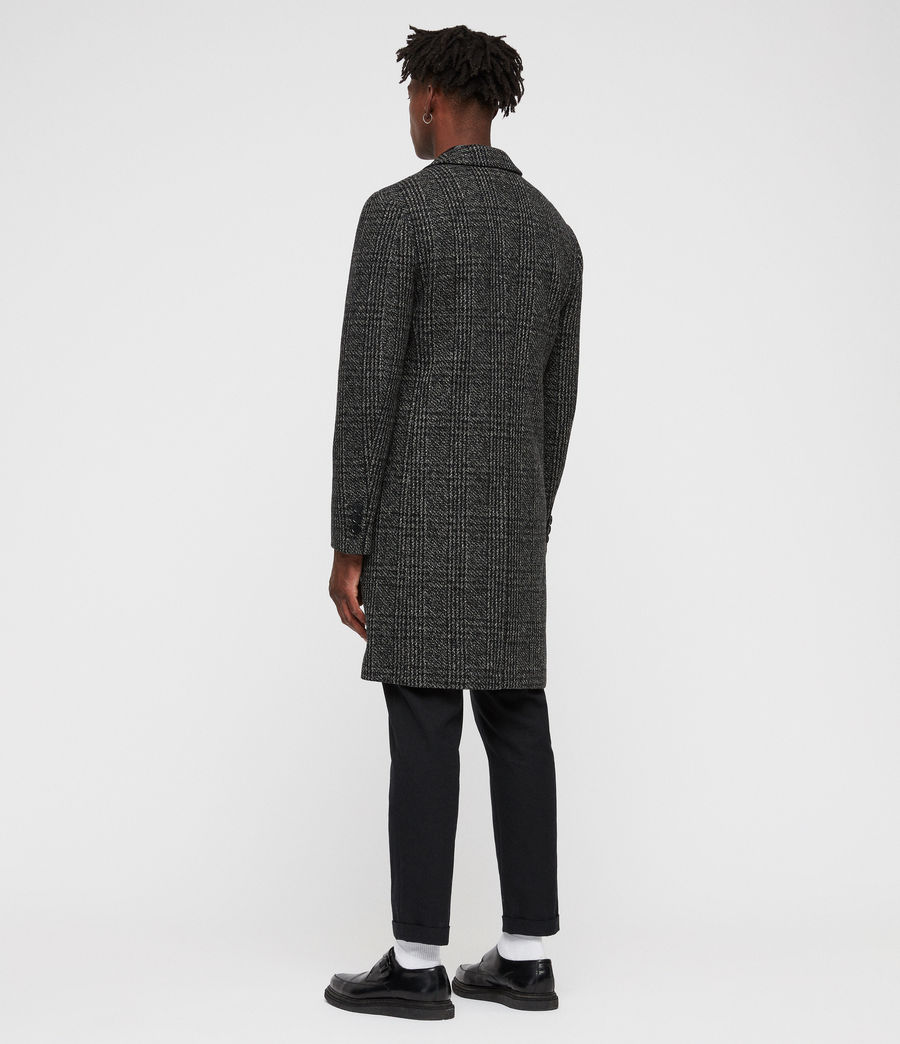 Mens Dowell Coat (black_charcoal) - Image 5