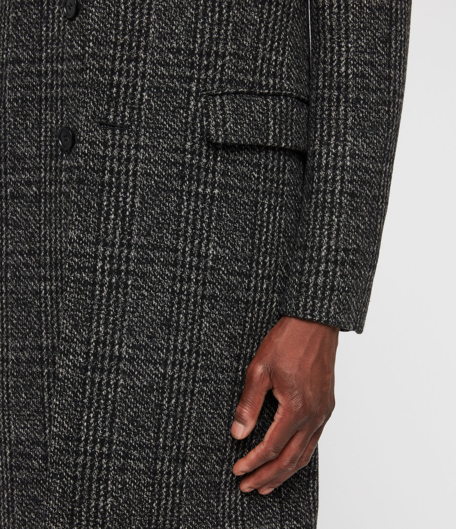 Mens Dowell Coat (black_charcoal) - Image 6