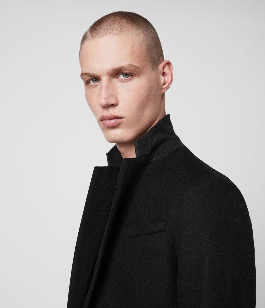 Hombres Abrigo de Lana con Cuello de Piel Standen (black) - Image 2