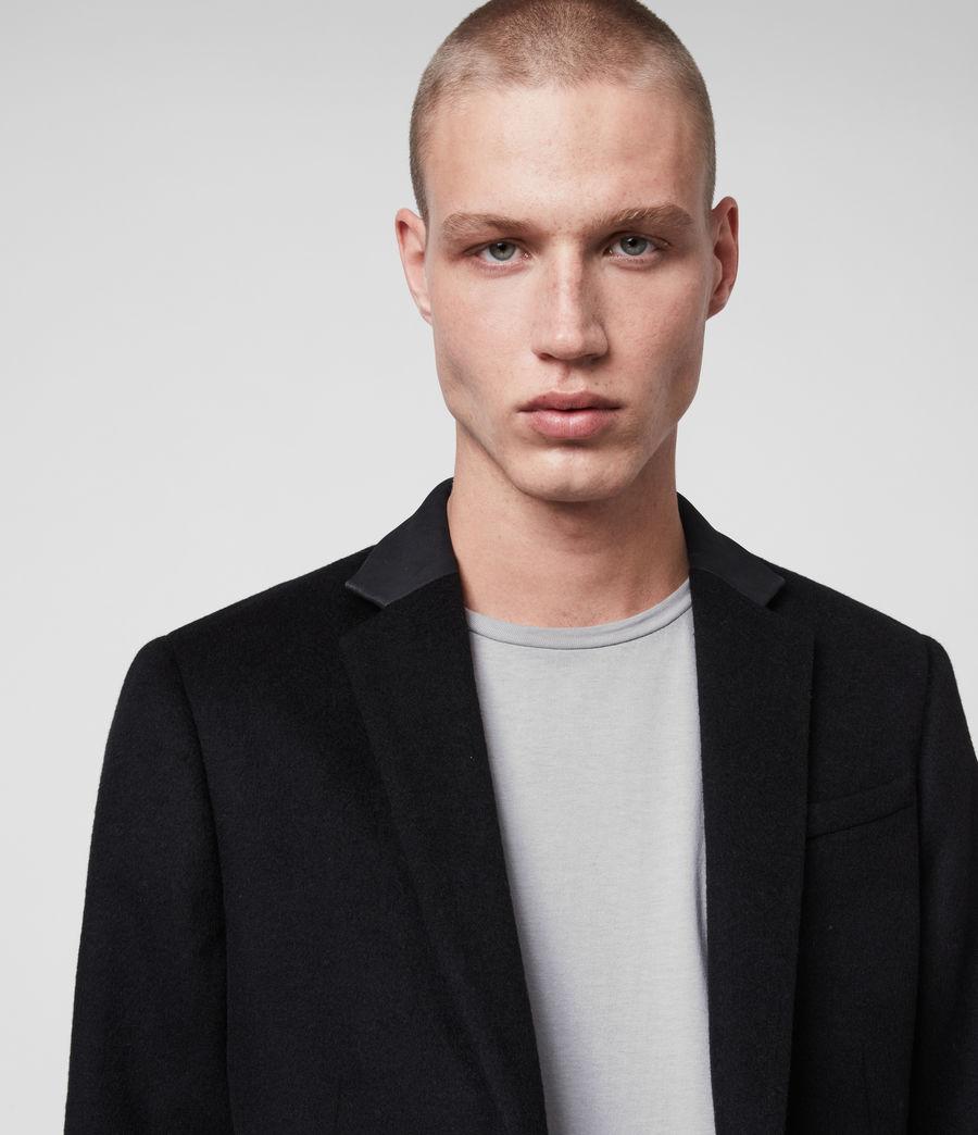 Hombre Abrigo de Lana con Cuello en Piel Standen (black) - Image 4
