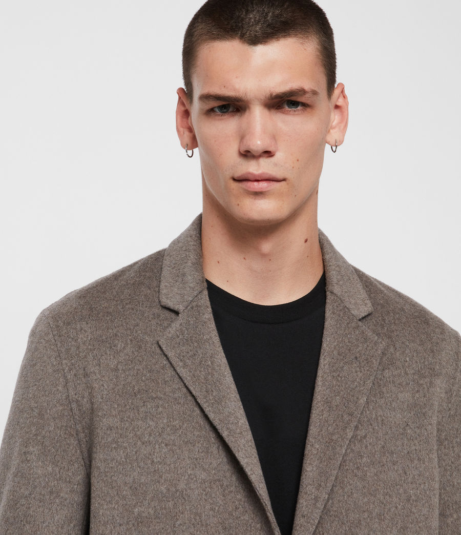 Mens Hanson Coat (thunder_grey_marl) - Image 2