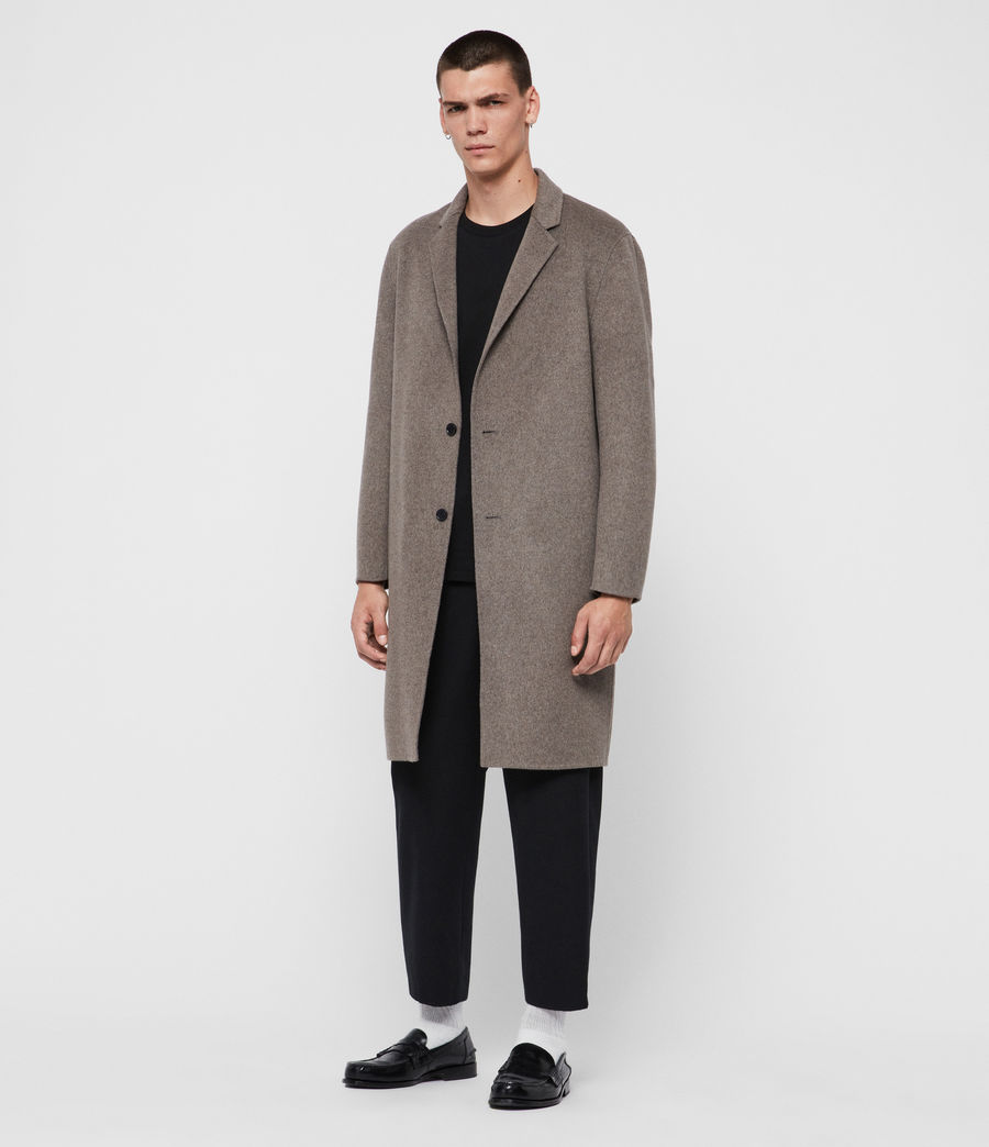 Men's Hanson Coat (thunder_grey_marl) - Image 3