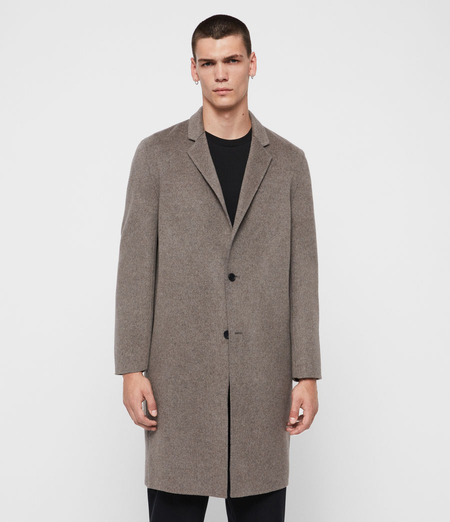 Mens Hanson Coat (thunder_grey_marl) - Image 4