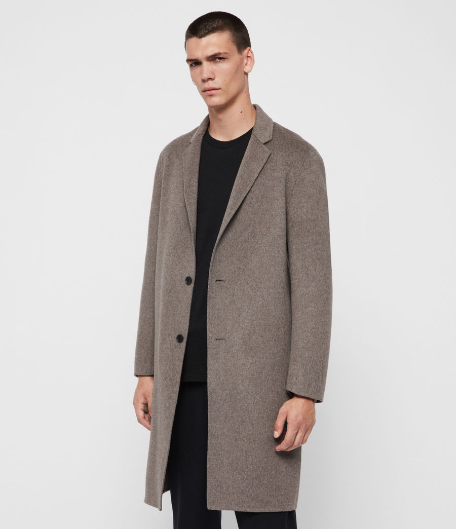 Mens Hanson Coat (thunder_grey_marl) - Image 5