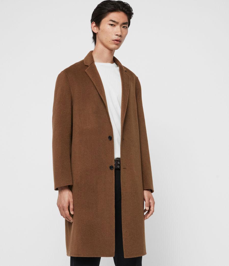 Uomo Cappotto Hanson - Oversize monopetto in lana (ochre_brown) - Image 5