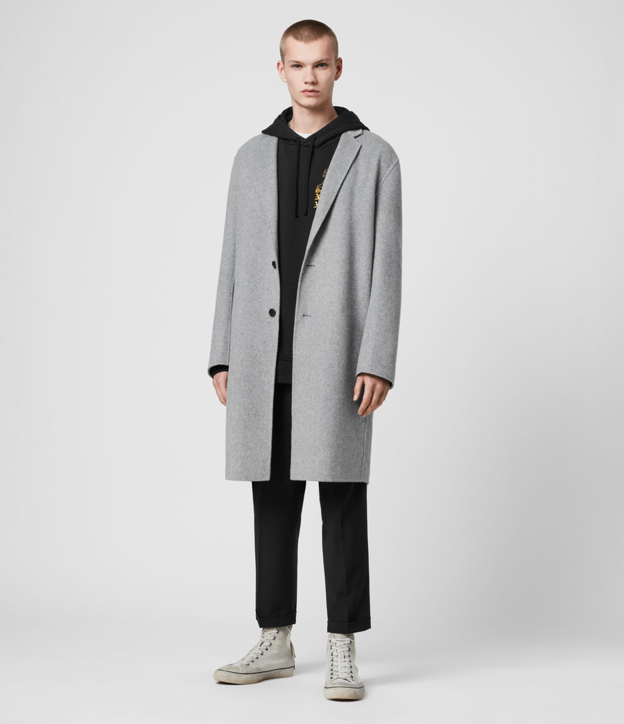 Mens Hanson Coat (light_grey_melange) - Image 1