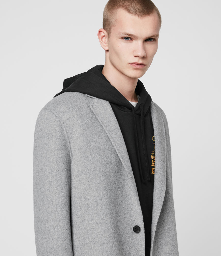Mens Hanson Coat (light_grey_melange) - Image 2