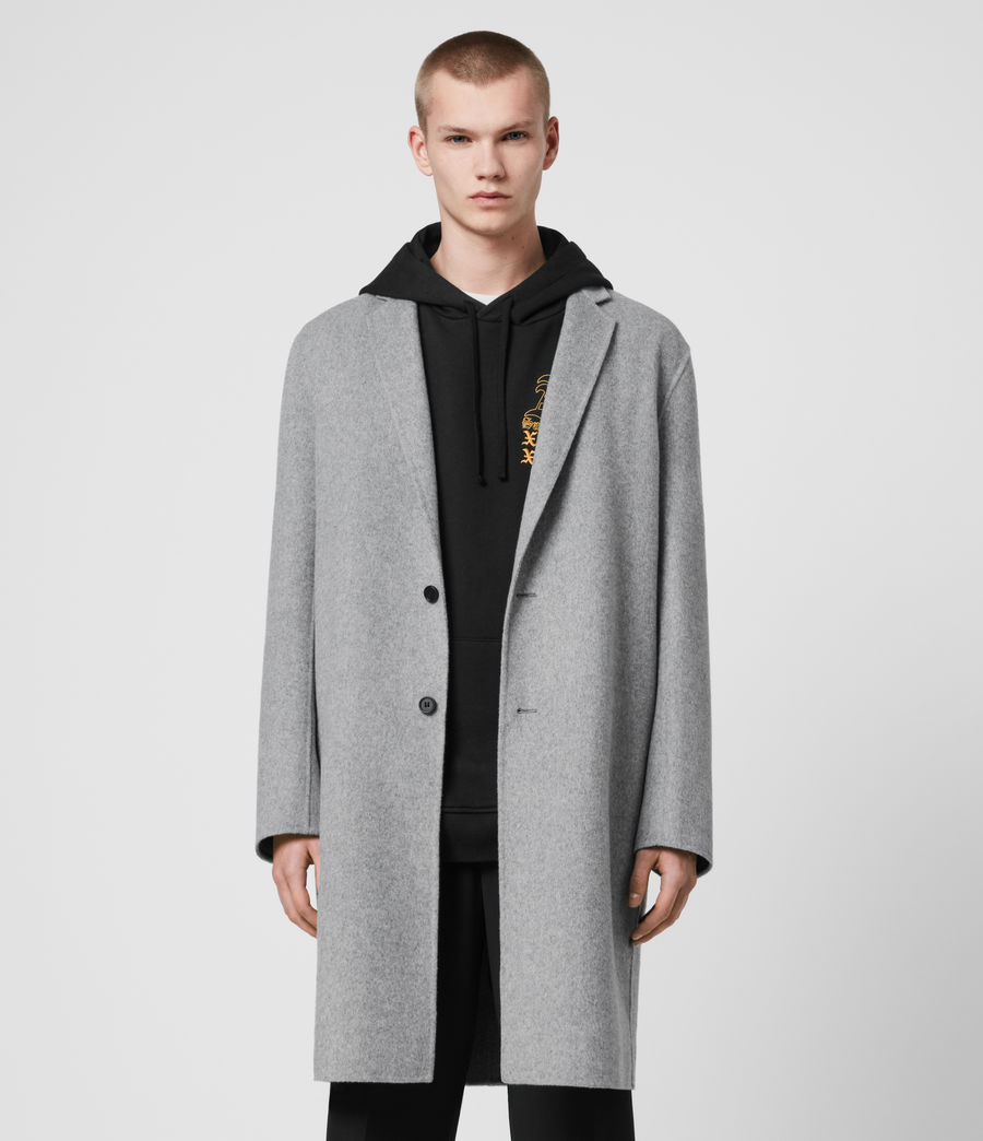 Mens Hanson Coat (light_grey_melange) - Image 3
