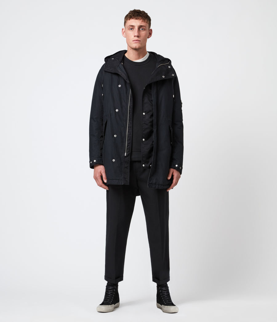 Men's Flax Parka Coat (black) - Image 1