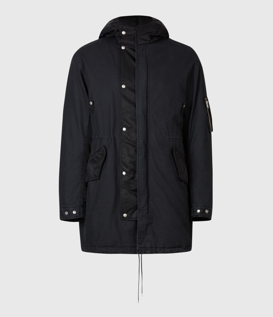 Men's Flax Parka Coat (black) - Image 2