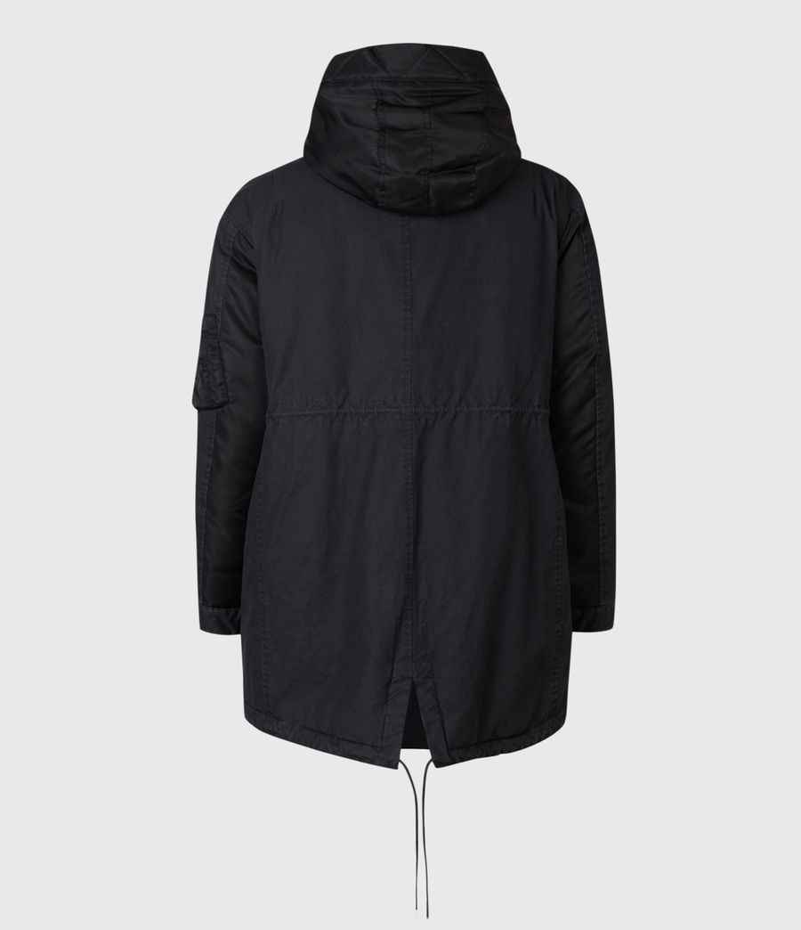 Men's Flax Parka Coat (black) - Image 3