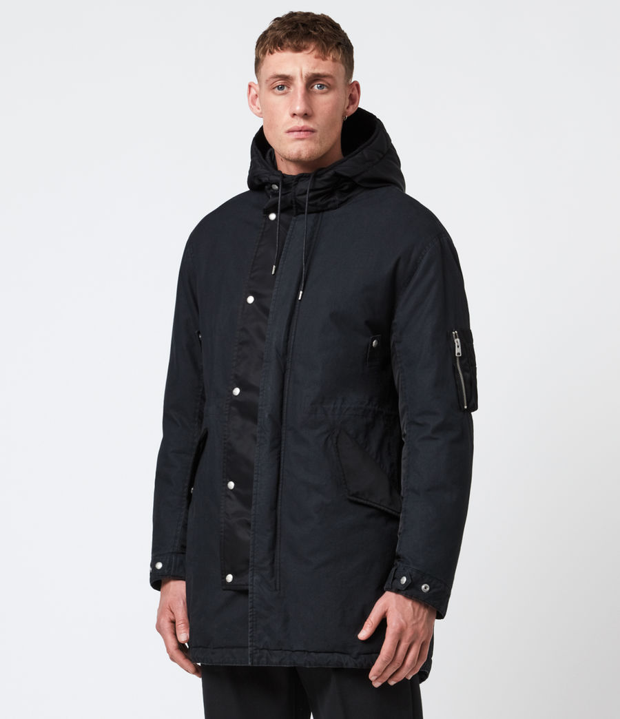 Men's Flax Parka Coat (black) - Image 4