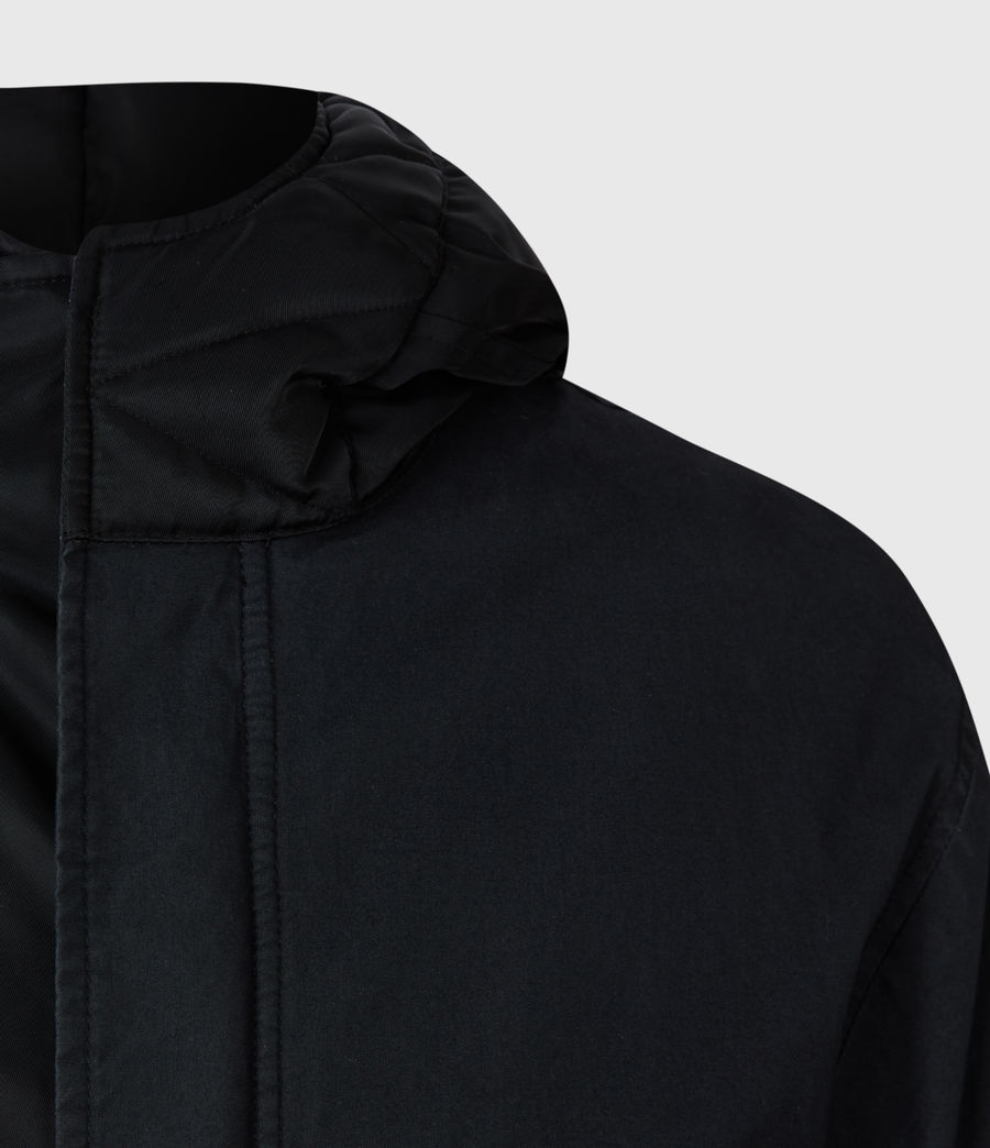 Men's Flax Parka Coat (black) - Image 5