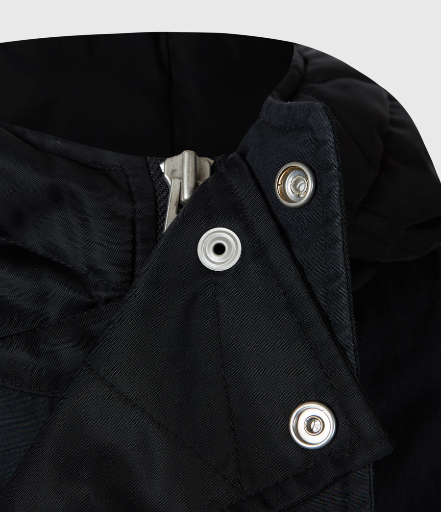 Men's Flax Parka Coat (black) - Image 7