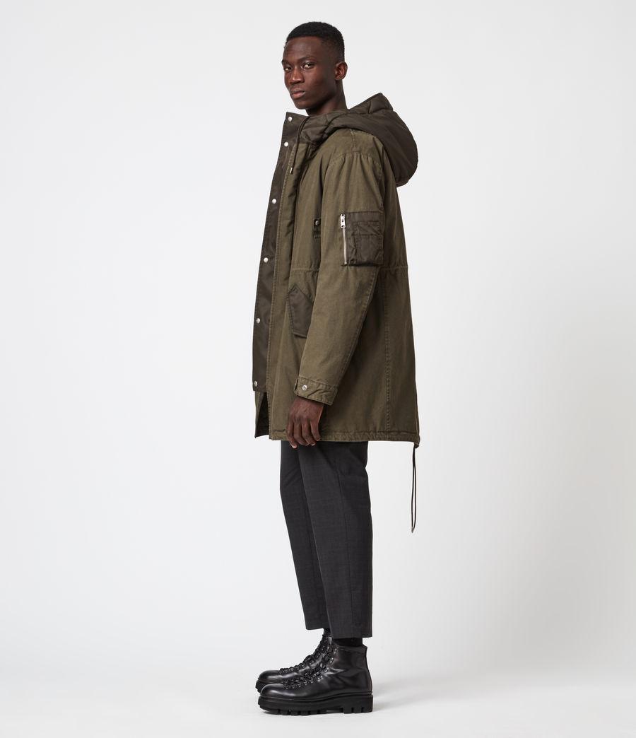 Mens Flax Parka Coat (dull_khaki_green) - Image 1