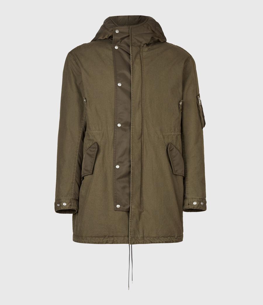 Mens Flax Parka Coat (dull_khaki_green) - Image 2