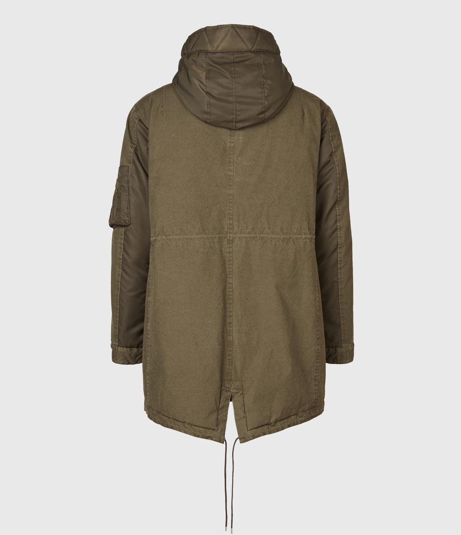 Mens Flax Parka Coat (dull_khaki_green) - Image 3