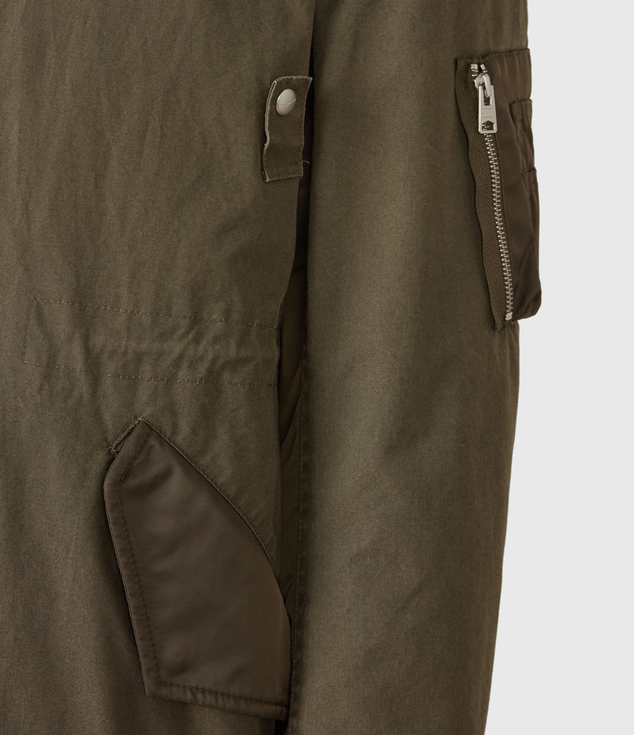Mens Flax Parka Coat (dull_khaki_green) - Image 6