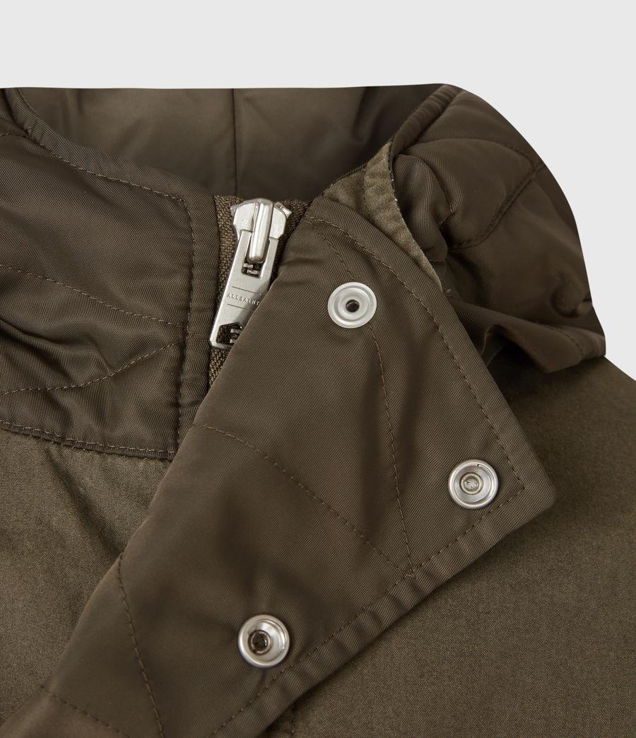 Mens Flax Parka Coat (dull_khaki_green) - Image 7