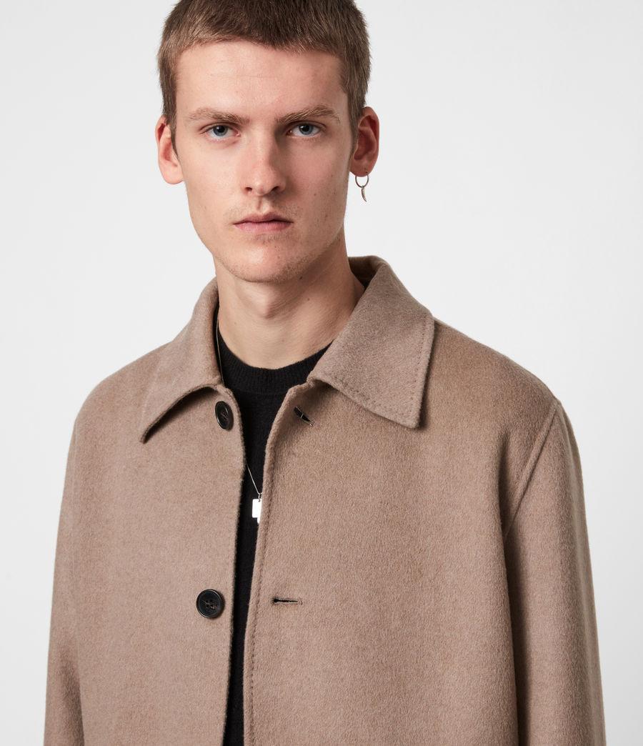Men's Adler Wool Blend Coat (fawn_brown) - Image 4