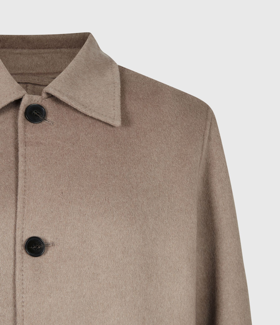 Men's Adler Wool Blend Coat (fawn_brown) - Image 5