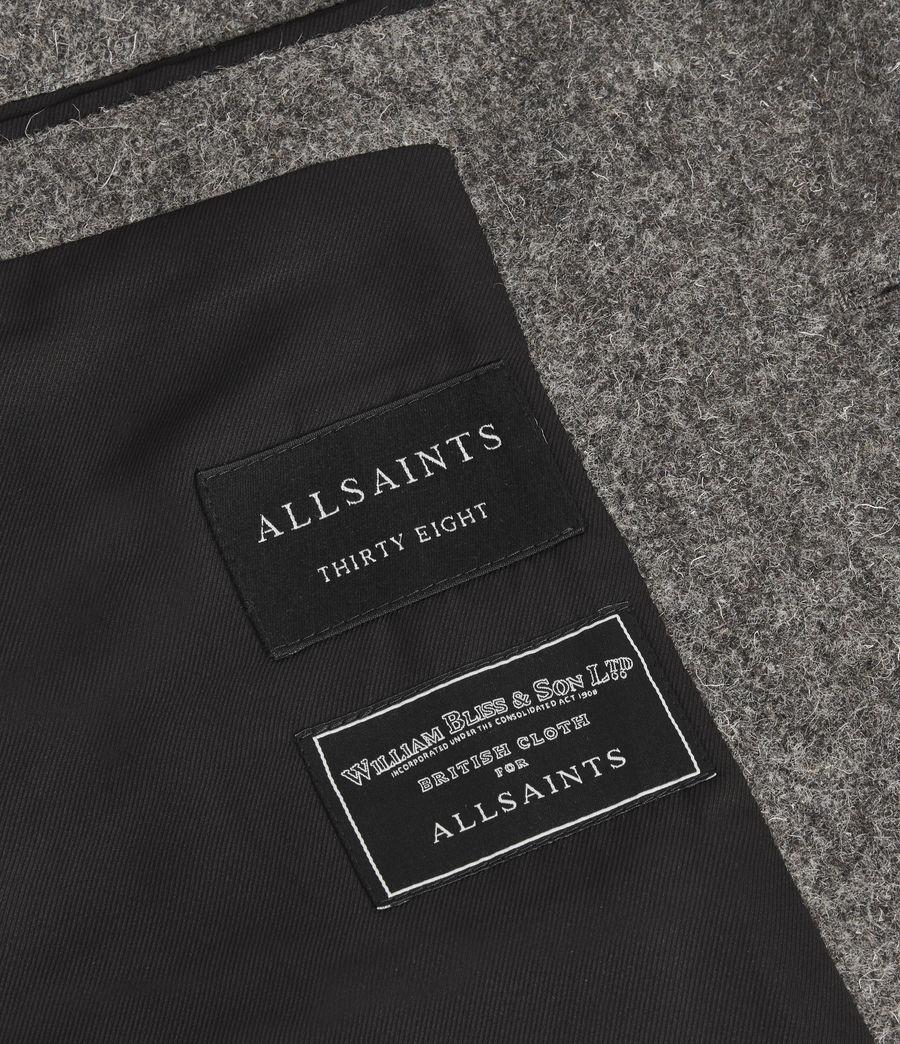 Men's Dunstan British Wool Coat (grey) - Image 7