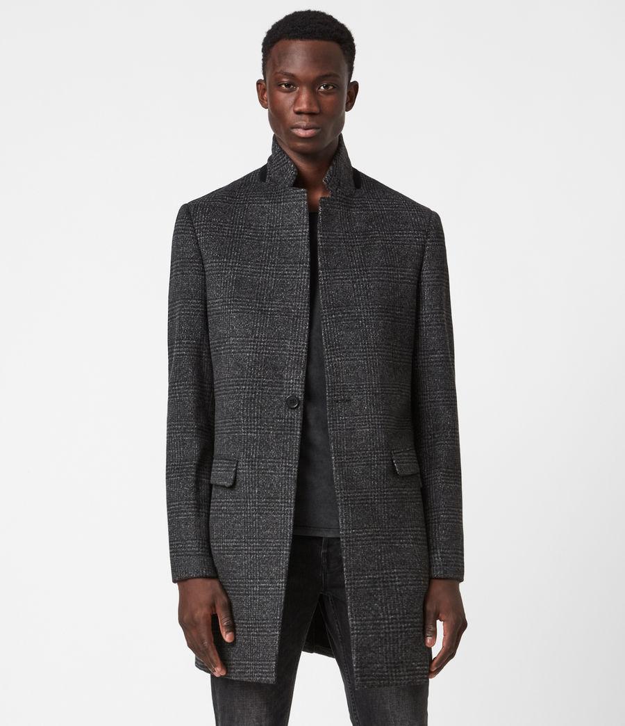 Men's Beadel Wool Blend Coat (dark_charcoal) - Image 1