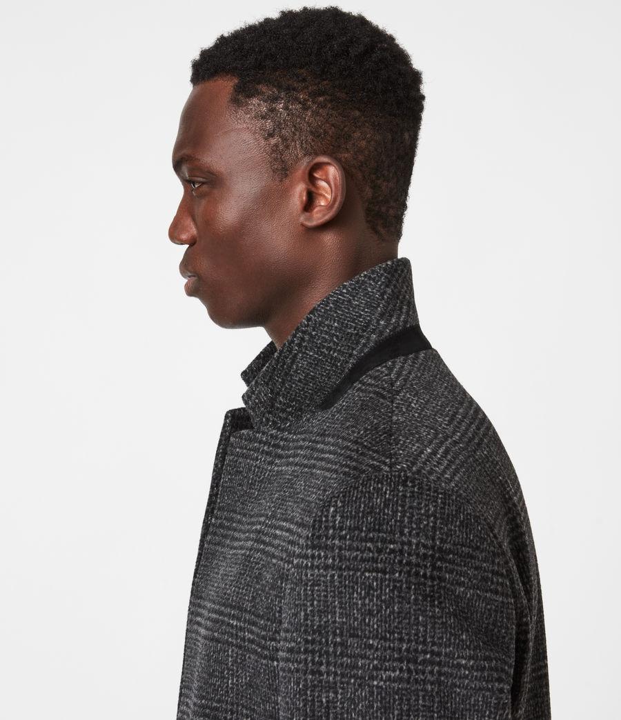 Men's Beadel Wool Blend Coat (dark_charcoal) - Image 4
