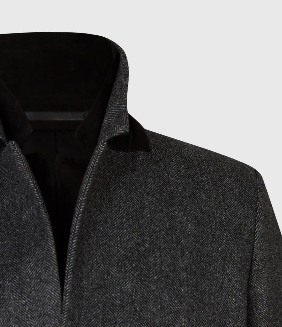 Mens Morden Coat (charcoal) - Image 5