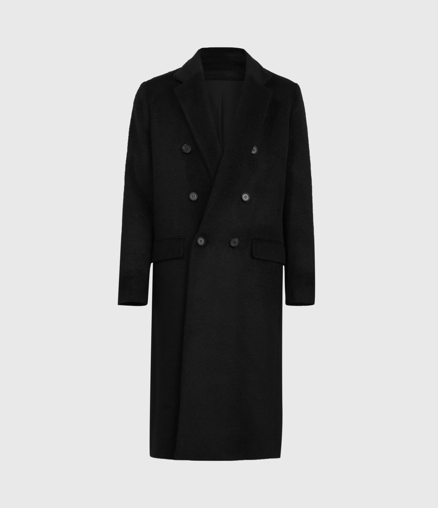 Mens Campo Wool Blend Coat (black) - Image 2
