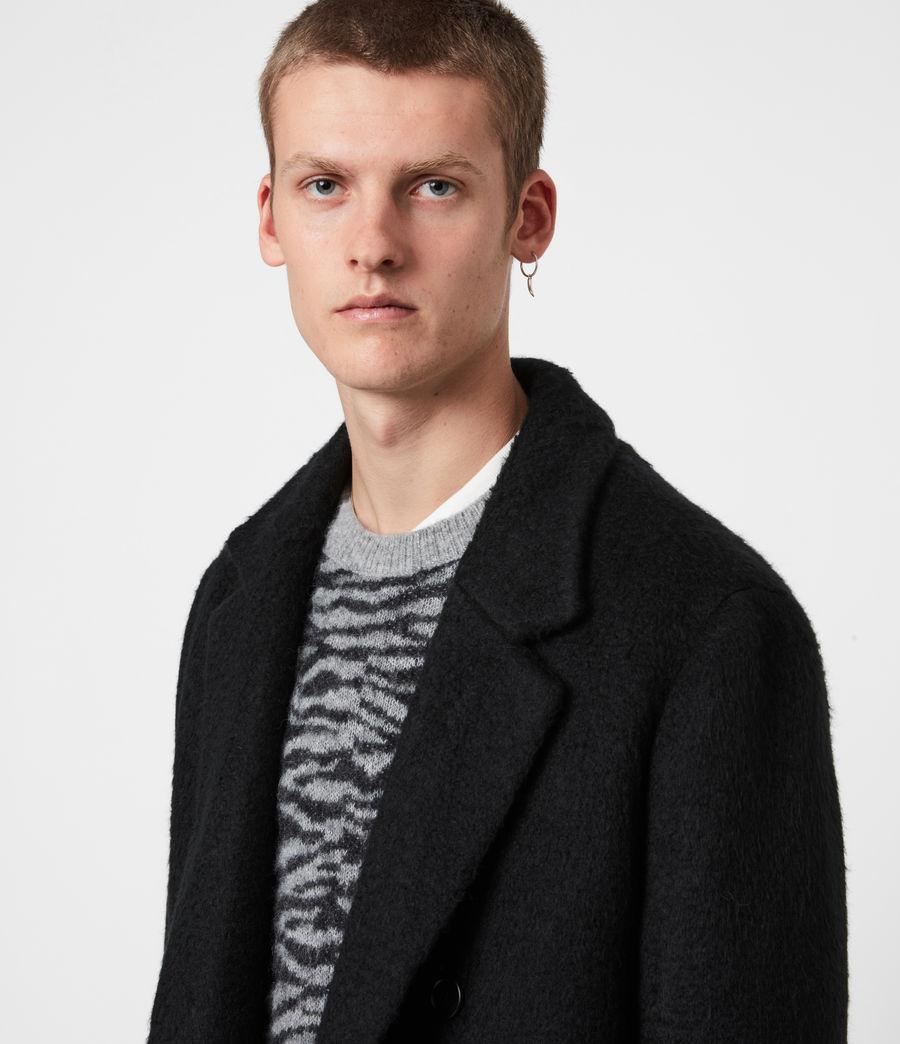 Mens Campo Wool Blend Coat (black) - Image 4