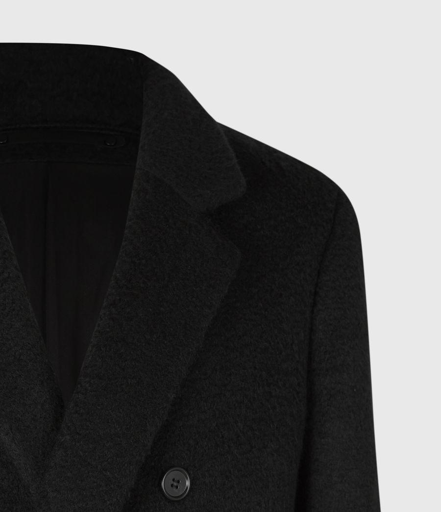 Mens Campo Wool Blend Coat (black) - Image 5