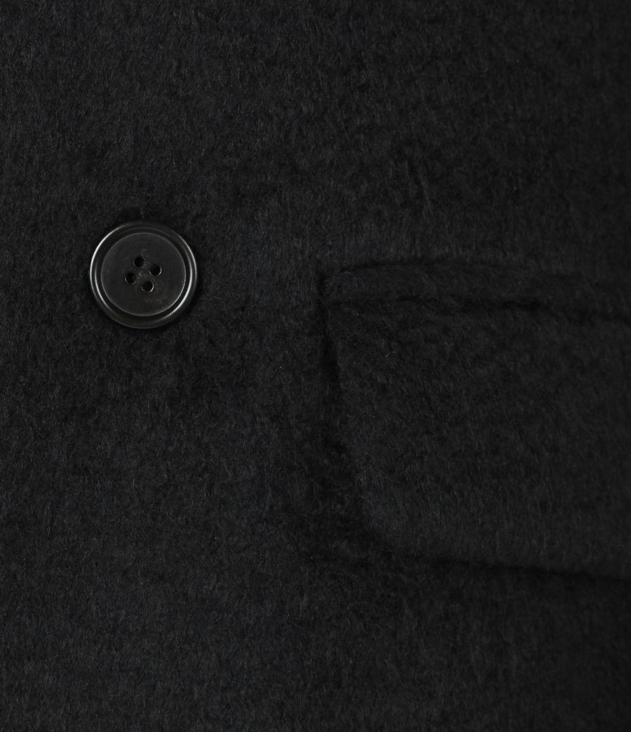 Men's Campo Wool Blend Coat (black) - Image 6