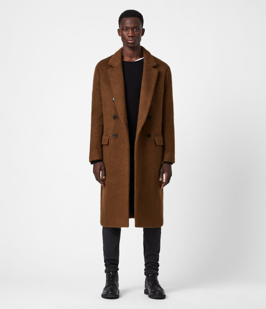 Men's Campo Wool Blend Coat (clove_brown) - Image 1