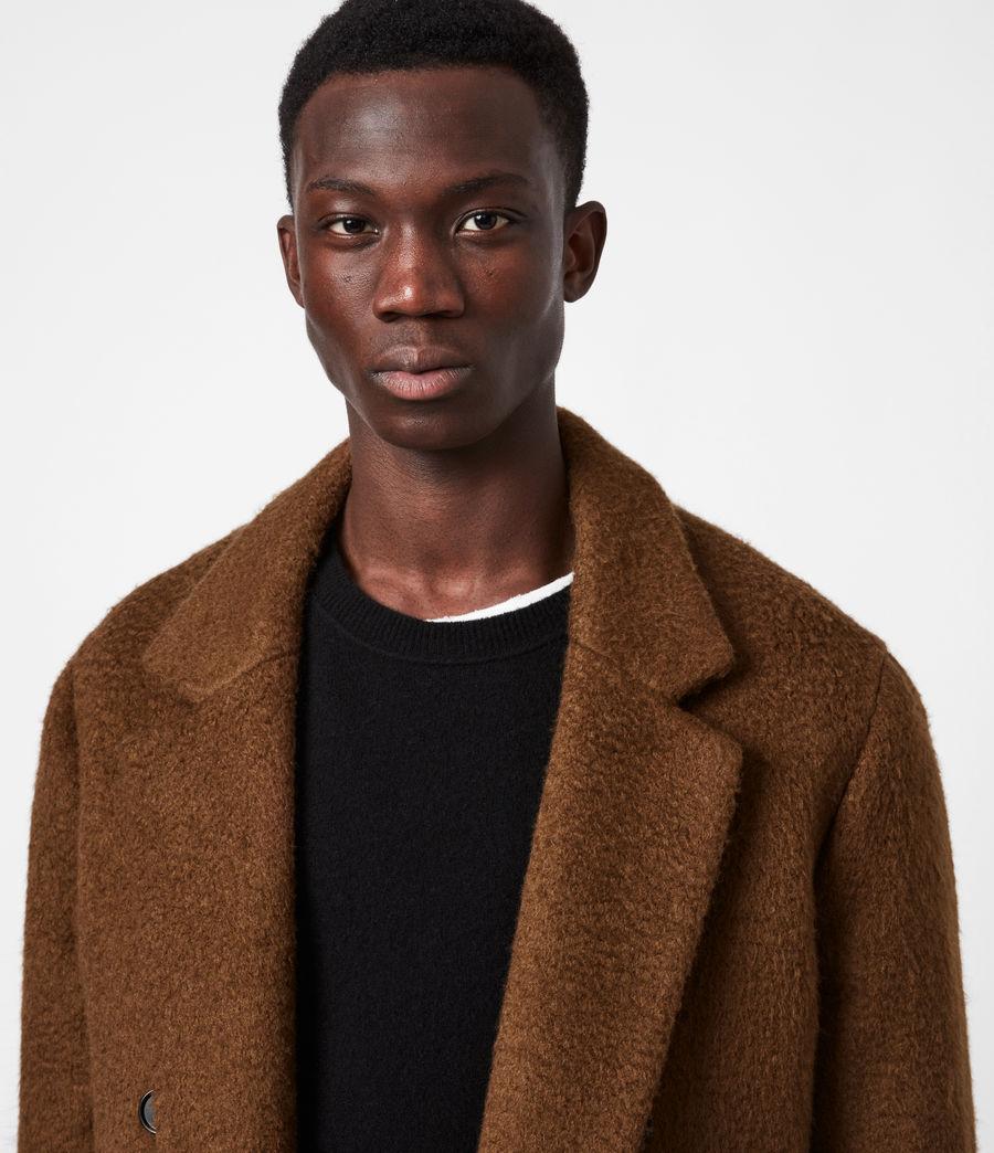 Men's Campo Wool Blend Coat (clove_brown) - Image 4