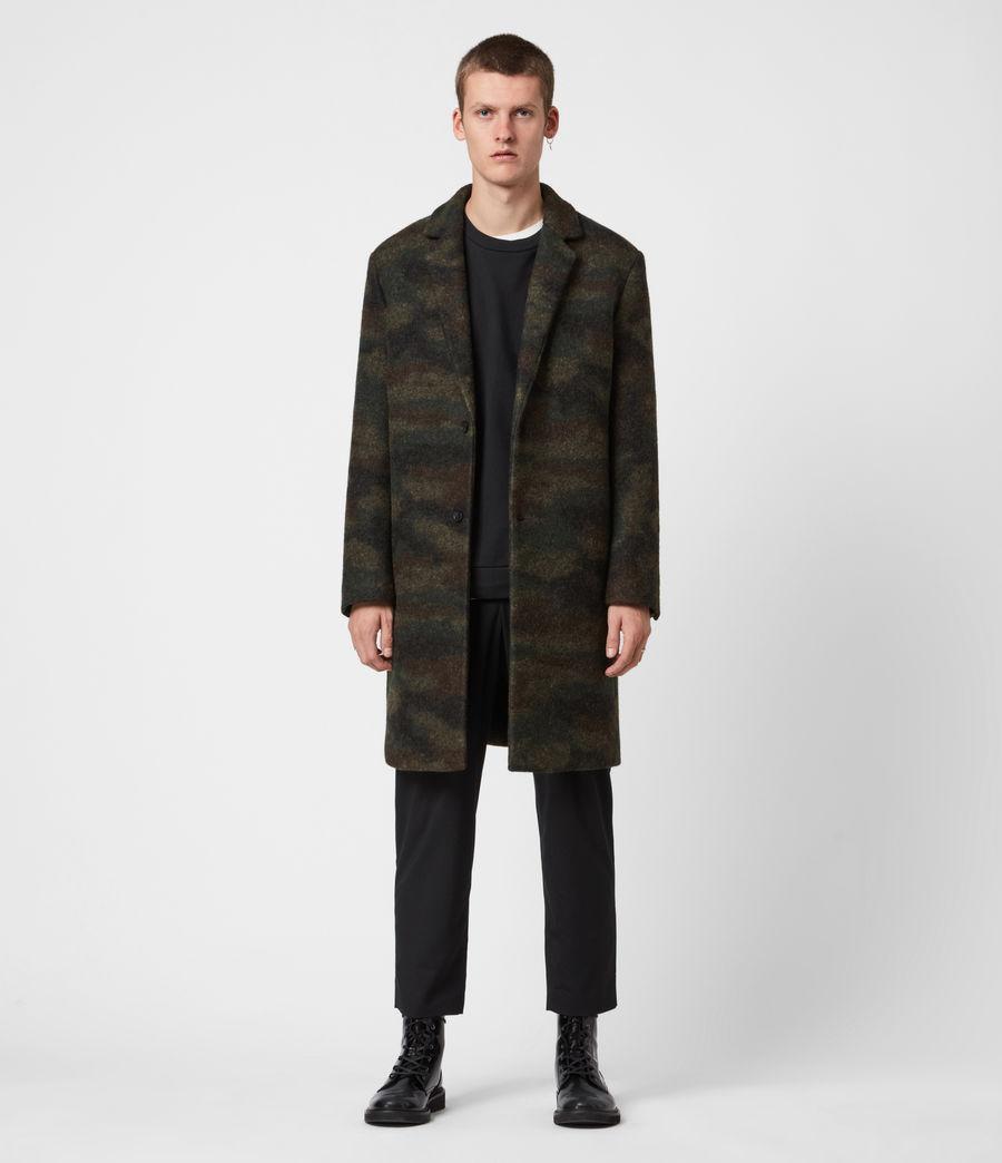 Men's Gasper Wool Blend Coat (khaki_camo) - Image 1