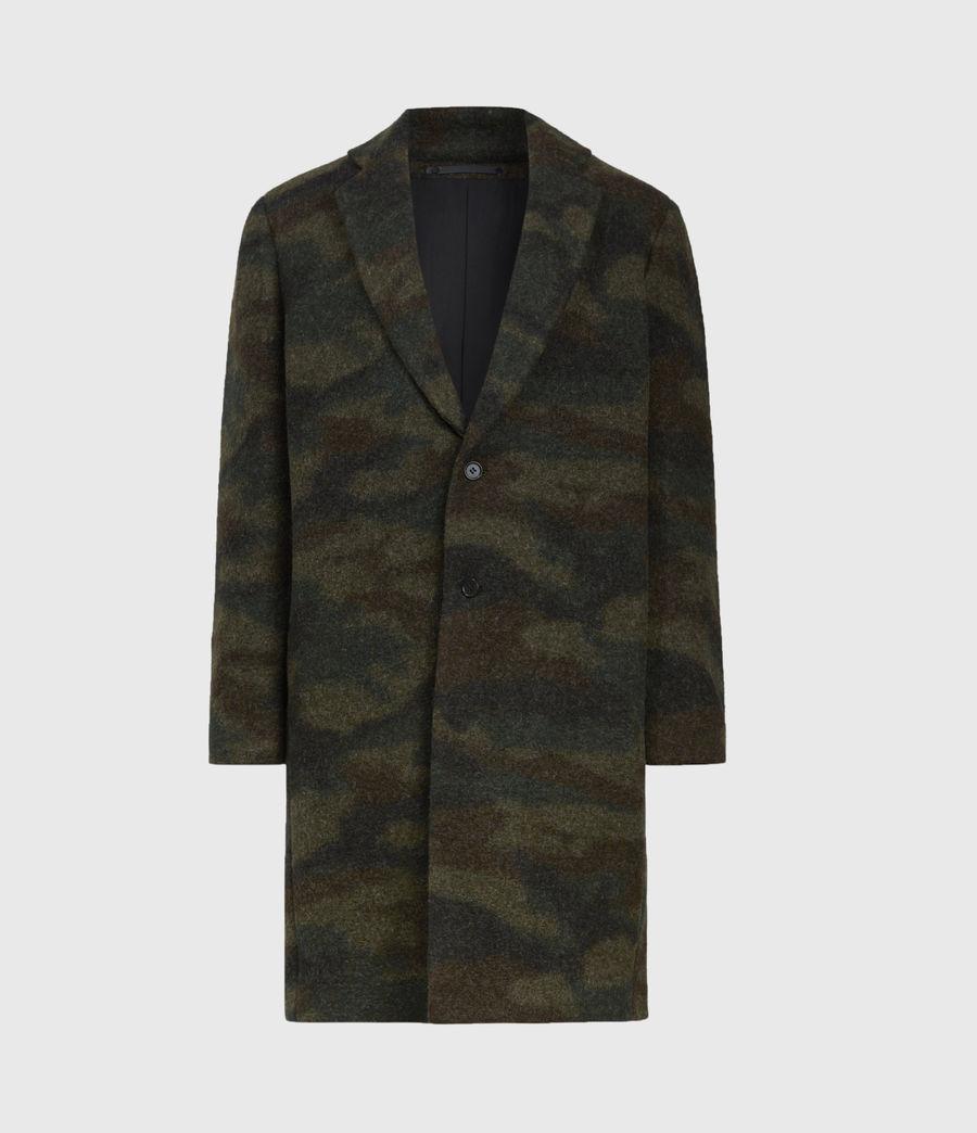 Men's Gasper Wool Blend Coat (khaki_camo) - Image 2