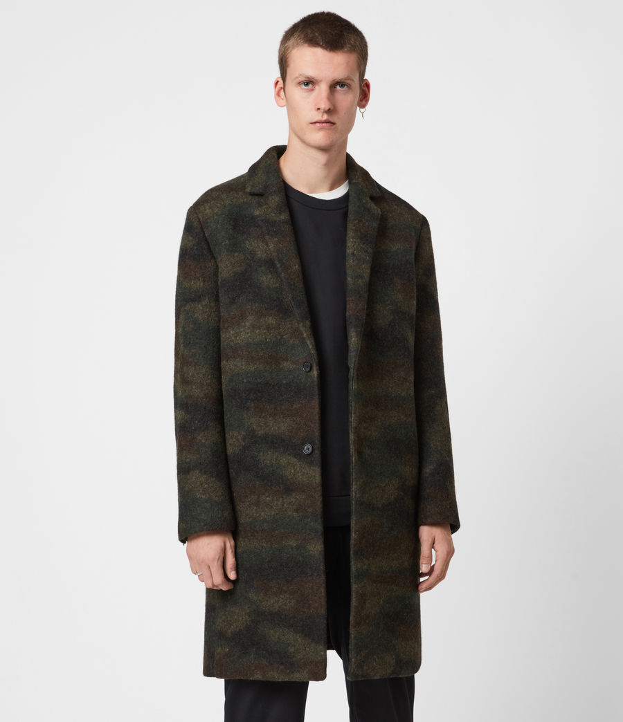 Men's Gasper Wool Blend Coat (khaki_camo) - Image 6