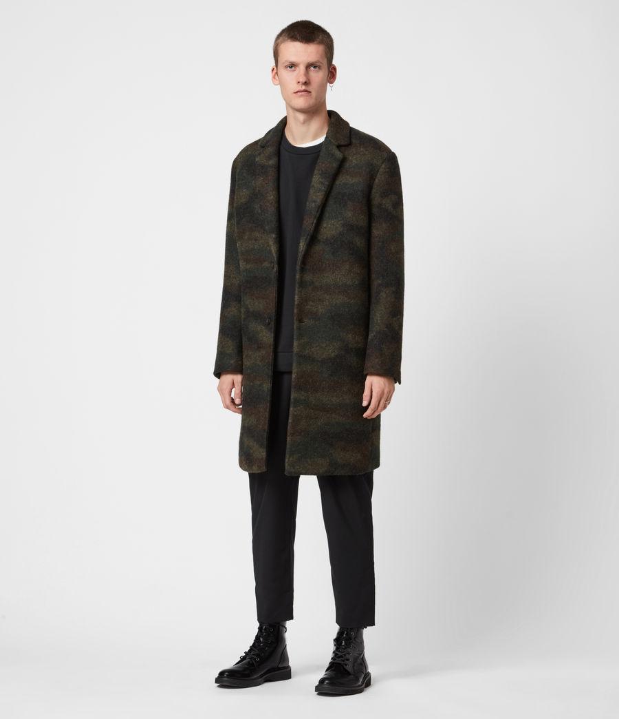 Men's Gasper Wool Blend Coat (khaki_camo) - Image 7