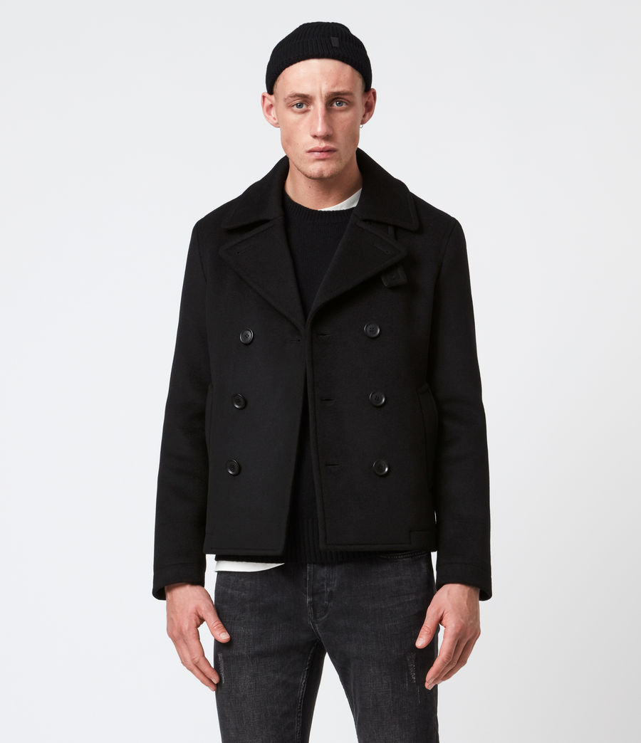 Mens Juncal Melton Wool Blend Peacoat (black) - Image 1